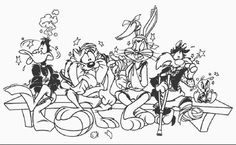 looney tune christmas coloring pages - photo#35