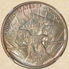 1936 Arkansas 50c Commemorative reverse
