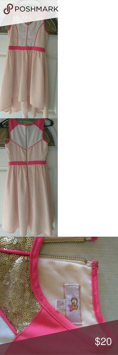 GB girls dress Two tone pink with zipper on back Dresses Casual