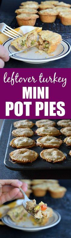 Leftover Turkey Mini Pot Pies (make using Paleo ingredients)