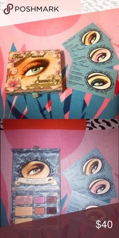 [Rare] Too Faced Summer Eye Palette Beautiful rare palette in good condition | used 2/3x Too Faced Makeup Eyeshadow