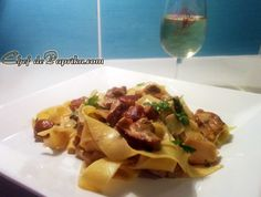 Pappardelle with Porcini Musrooms - Italian Recipe