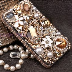 iphone 5 case iphone Bling case iphone cover crystal by FashionDJ