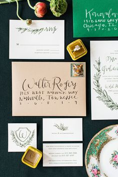 Beautiful calligraphy invitations