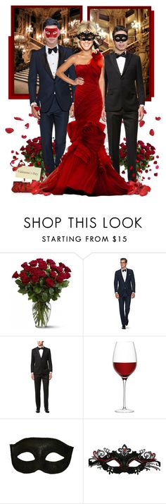 """Valentine's Day Masquerade Ball 2017 ● NY"" by annynavarro ❤ liked on Polyvore featuring Haze, Masquerade, Todd Snyder, LSA International and Judith Leiber"