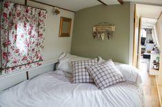 The Fashion Diaries - Boat Life - narrowboat bedroom