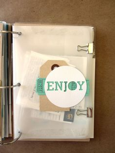Pages made from old envelopes and packaging. GREAT DIY TUTORIAL AND BLOG!!