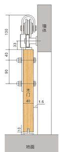 10FT sliding barn door hardware kit for wide barn door to work two opennings