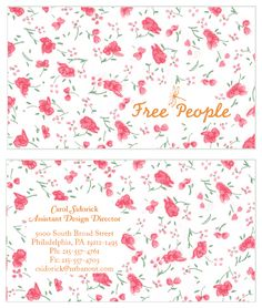 Free People Business Card