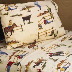 Sweet JoJo Designs Wild West Cowboy Sheet Set - maybe for the teardrop??