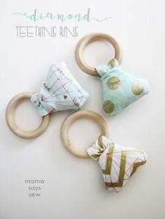 mama says sew: Diamond Teething Ring