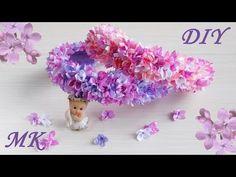 Сирень канзаши мастер класс. Весенний ободок своими руками (МК/DIY ) - YouTube