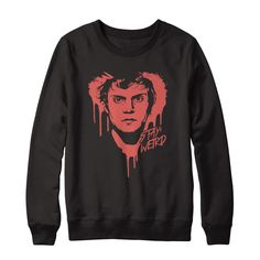 "Official Evan Peters ""Stay Weird"" Tee ""I designed this limited edition T-shirt just for my fans! Available for a limited time only! Stay weird."" - Evan    Sweatshirts and other styles available in  drop down menu.    ** Worldwide Shipping **"
