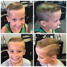 Little lads in training! You're never too young to look good. Thanks for bringing your boys in. Little Boy Hairstyles, Fancy Hairstyles, Dapper Haircut, Kids Barber, Short Hair Cuts, Short Hair Styles, Hair Cutting Techniques, Kids Cuts, Haircuts For Men