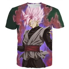 Dragon Ball Super Z - Super Saiyan Rose Black Goku Time Ring T-Shirt - 3D Clothing