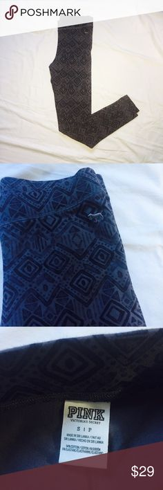 PINK VICTORIA'S SECRET: Tribal Leggings Like new!  Women's size small tribal patterned leggings from PINK:Victoria's Secret.  Shades of gray.  No trades, PayPal or off-site transactions. 🚫 PINK Victoria's Secret Pants Leggings
