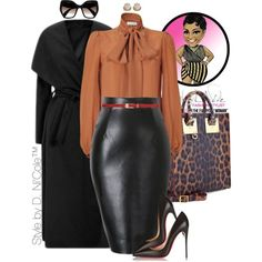 A fashion look from November 2015 featuring Emilio Pucci blouses, Christian Louboutin pumps and Sophie Hulme tote bags. Browse and shop related looks.