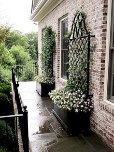 Gardening With Containers 15 Amazing Front Yard Courtyard Landscaping Ideas Courtyard Landscaping, Small Front Yard Landscaping, Front Yard Design, Mulch Landscaping, Front Yard Decor, Front Yard Patio, Front Yard Landscape Design, Landscaping Software, Front Yard Gardens