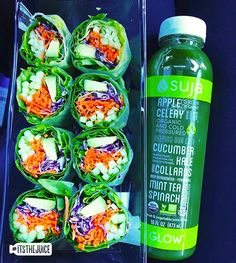 When you prefer your collards wrapped & juiced… #itsthejuice #suja