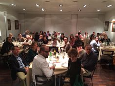 "Chef Fushiki ""miso dinner"" at La Cucina Italiana HQ in Milano: an applauding crowd."
