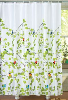 #27344 Springtime Birds and Branches Bathroom Shower Curtain by sensationaltreasures
