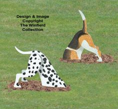 Diggin Dogs Wood Yard Art Outdoor Lawn Decorations Dog Digging, Dalmatian and Beagle - Gartenkunst Wood Yard Art, Wood Art, Wooden Projects, Wooden Crafts, Vinyl Projects, Winfield Collection, Wood Craft Patterns, Art Patterns, Deco Nature