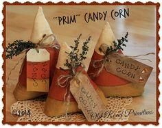 Prim CANDY CORN Primitive Halloween e Pattern by OldRoadPrimitives
