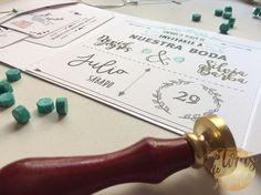 invitaciones de boda con lettering Wax Seals, Custom Stamps, Elegant Wedding, How To Make, Cards