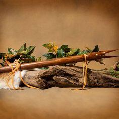 "Red Wood Flute - This 24"" flute is made of red wood by Lakota artist George Estes. Signed ""Lakota George"". #Flute #NativeAmerican #LakotaGeorge #Lakota #RedWood #Music #Instrument #Soothing #aktalakotamuseum Native American Instruments, Red Wood, Flute, Art Gallery, Music, Artist, Art Museum, Flutes, Fine Art Gallery"