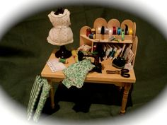 Miniature Sewing Craft Table