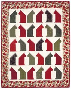 Christmas Cat Chat Quilt free pattern--the perfect holiday gift for cats (and their people).