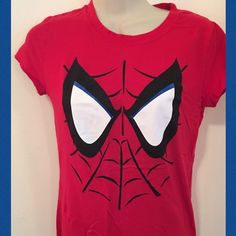 Fitted Spider-Man t shirt Cute, perfect for a women's super hero costume or if you like super heroes! Tops Tees - Short Sleeve