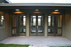 Entry doors - Taylor Road house, Austin, TX