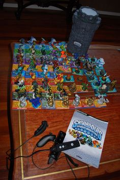 My son is spoiled  66 Skylanders!!! collection includes all if the legendaries, the htf gold vault coin,  all 3  Hard to find GOLD, All 3 Hard to find Silver, Blue Bash ( very hard to find and limited ed.)  and some custom painted duplicated that I have hand painted to make more while we are waiting for the release of the last skylander- Whamshell..!   This fall SKYLANDERS GIANTS!  My pocket book is going to scream.. it already is!!!