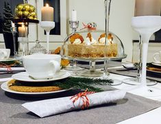 Luumua ja kanelia! Onion Bread, Cheese Bread, Table Settings, Food And Drink, Table Decorations, Lasagna, Cheese Buns, Place Settings, Dinner Table Decorations