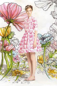 GIO KATHLEEN: Red Valentino Spring/Summer 2014 lookbook