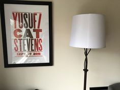 Cat Stevens poster from Hatch Print Show in #Nashville, TN hanging in my room.