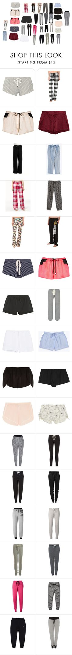 """pajama bottoms"" by hopecutyorange ❤ liked on Polyvore featuring Eberjey, P.J. Salvage, River Island, STELLA McCARTNEY, Hue, Soma, Vera Bradley, DKNY, Skin and Kiki de Montparnasse"