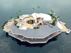 "A Floating Island for $6.5M  Measuring 66 by 121 feet the ""Orsos Island"" has no engine but can be anchored anywhere its owners choose and then towed to another location the other side of the world if they so wish, Hungarian-born Gabor Orsos said.    Boasting 1,000 square metres of living space, the Orsos island was designed to combine the best of mainland real estate and a super yacht at a reduced cos    Read more: Luxuo - The Luxury Lifestyle Blog http://www.luxuo.com/#ixzz1yzdVk2vn"