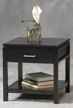 Sutton Black End Table - 84028BLK-01-KD-U