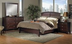 Would LOVE to have this whole set, in King, with mattress/box spring. Just moved. Old crappy college furniture in a new house is just wrong. King Bedroom Sets, Queen Bedroom, Home Bedroom, College Furniture, New Furniture, Bedroom Furniture, Furniture Ideas, Suite Life, Cool Beds