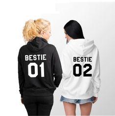 May 2020 - Bestie 01 Bestie 02 Hoodies Bestie Hoodies Bestie Sweater Bff Shirts, Best Friend Sweatshirts, Best Friend T Shirts, Friends Sweatshirt, Best Friend Outfits, Best Friend Gifts, Best Friend Clothes, Bff Clothes, Bestie Gifts
