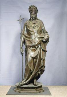 Lorenzo Ghibert i(Firenze 1378/80 -1455, San Giovanni Battista, 1413-1416, Bronzo, Firenze, Orsanmichele