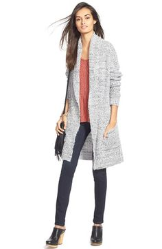 Hinge Cardigan, Top and Treasure&Bond Skinny Jeans available at #Nordstrom