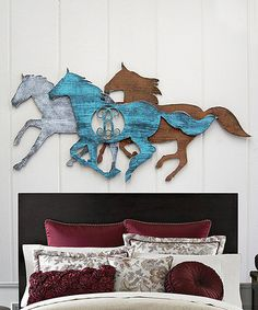 Look at this #zulilyfind! Wild Stallions Rustic Wood Wall Art #zulilyfinds