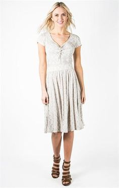 You Can Can Dress - Grey Lace $28.99        Downeast