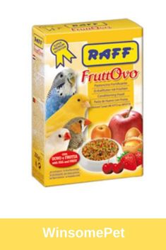 RAFF Fruttovo - daily food supplement to accompany the basic seed diet for granivorous cage birds. Egg Recipes, Dog Food Recipes, Conure, Bird Food, Cage, Seeds, Strawberry, Tasty, Apple