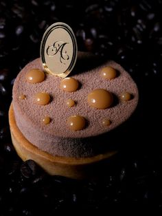 TARTE CAFE CARAMEL [Coffee mousse, coffee genoise with expresso, salted caramel, almond tart] | Antoinette