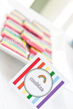 Rainbow Birthday Party   www.lifeandbaby.com