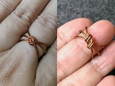 Wire ring - How to make wire jewelery 154 - YouTube